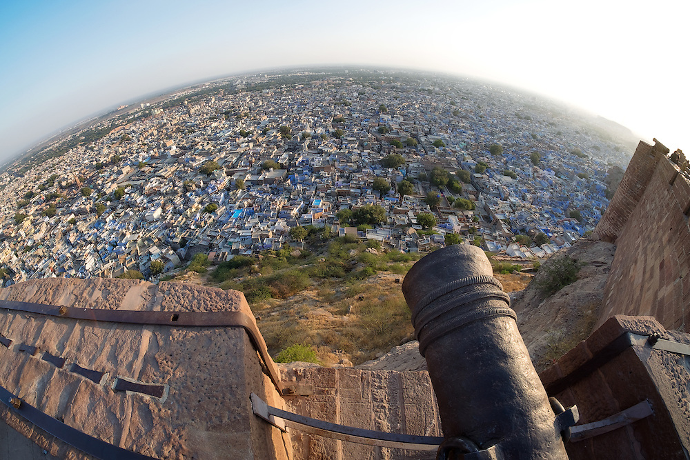 Blue City Jodhpur in Rajasthan state of India