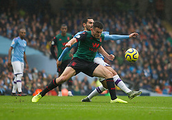 Ilkay Gundogan of Manchester City and John McGinn of Aston Villa (L) in action - Mandatory by-line: Jack Phillips/JMP - 26/10/2019 - FOOTBALL - Etihad Stadium - Manchester, England - Manchester City v Aston Villa - English Premier League