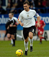 Photo: Leigh Quinnell.<br /> Luton Town v Cardiff City. Coca Cola Championship. 01/01/2007. Lutons Sol Davis makes his first start for Luton since suffering a stroke.