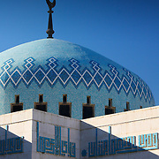 Islamic mosaic pattern dome crescent symbol, Amman, Jordan (December 2007)