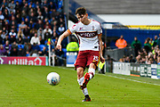 Tom Field (15) of Bradford City crosses the ball during the EFL Sky Bet League 1 match between Portsmouth and Bradford City at Fratton Park, Portsmouth, England on 28 October 2017. Photo by Graham Hunt.
