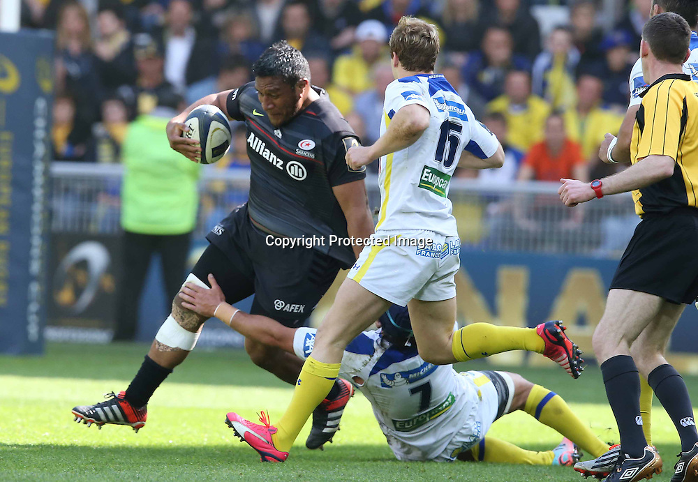 European Rugby Champions Cup Semi-Final, Stade Geoffroy-Guichard, Saint-Etienne, France 18/4/2015<br /> ASM Clermont Auvergne vs Saracens<br /> Saracens' Mako Vunipola<br /> Mandatory Credit &copy;INPHO/Billy Stickland