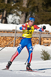 12.12.2010, Biathlonzentrum, Obertilliach, AUT, Biathlon Austriacup, Verfolgung Men, im Bild Dmitry Blinov (RUS, #24). EXPA Pictures © 2010, PhotoCredit: EXPA/ J. Groder