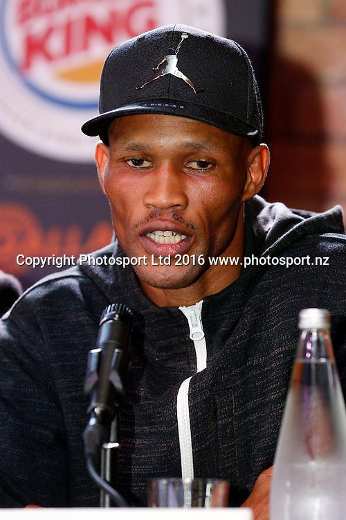 Ali Funeka, Final press conference before the December 10, Parker v Ruiz, WBO world boxing heavyweight title fight. Rec Bar, Auckland. 8 December 2016 / www.photosport.nz