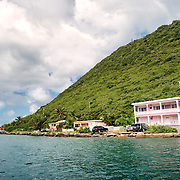 The waterfront of West End Harbour on Tortola in the British Virgin Islands.