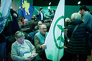 28 January 2016, Milan, Italy - Supporters of Lega Nord party during the first Europe of Nations and Freedom (ENF) congress at MiCo Congress centre in Milan.