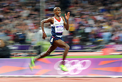 File photo dated 04-08-2012 of Great Britain's Mo Farah in action during the Men's 10,000m Final