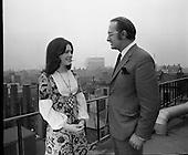 1971 - Image Dana at Jurys with Mr. C Rice
