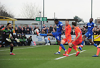 Football - 2018 / 2019 Emirates FA Cup - Fifth Round: AFC Wimbledon vs. Millwall<br /> <br /> Michael Folivi of Wimbledon goes close, at the Cherry Red Records Stadium (Kingsmeadow).<br /> <br /> COLORSPORT/ANDREW COWIE