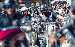 28.06.2019, Schladming, AUT, Rock the Roof 2019, im Bild Ausfahrt // bikes during the Rock the Roof Biker Meeting in Schladming, Austria on 2019/06/28. EXPA Pictures © 2019, PhotoCredit: EXPA/ JFK