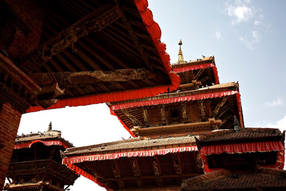 Hindu temples at Durbar Square, Kathmandu, Nepal.