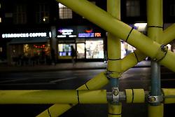 UK ENGLAND LONDON 26MAR14 - Padded scaffolding at Edgware Road, Paddington, central London.<br /> <br /> jre/Photo by Jiri Rezac<br /> <br /> © Jiri Rezac 2014