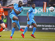 Barnet player John Akinde has a shot on goals that misses in the first half during the EFL Sky Bet League 2 match between Luton Town and Barnet at Kenilworth Road, Luton, England on 24 March 2018. Picture by Ian  Muir.during the EFL Sky Bet League 2 match between Luton Town and Barnet at Kenilworth Road, Luton, England on 24 March 2018. Picture by Ian  Muir.
