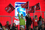 Crusaders fans during the Investec Super Rugby game between Crusaders v Hurricanes at AMI Stadium, Christchurch. 28 March 2014 Photo: Joseph Johnson/www.photosport.co.nz