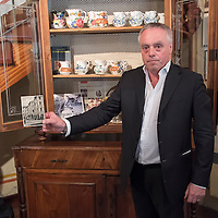 "TREVISO, ITALY - AUGUST 24:  Carlo Campeol the present owner of Restaurant ""Alle Beccherie"" and son of Alba  shows a picture of the restaurant during the second world war on August 24, 2013 in Treviso, Italy. Treviso claims that Tiramisu was invented in the 1960s by Alba Campeol, the owner of the Restaurant called ÒAlle BeccherieÓ, who supposedly wanted to create a dessert that would give her an energy boost after the birth of her son.  (Photo by Marco Secchi/Getty Images)"