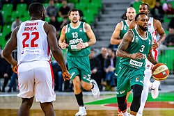 Ryan Jamar Boatright of KK Cedevita Olimpija during ABA basketball league round 9 match between teams KK Cedevita Olimpija and KK Crvena Zvezda MTS in Arena Stozice, 1. December, Ljubljana, Slovenia. Photo by Grega Valancic / Sportida