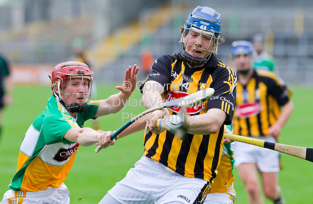 9/6/2010.Pictured in action at the Kilkenny V Offaly Under 21 Hurling Championship match at Nowlan Park Kilkenny was Kilkenny's Walter Walsh and Offaly's Brian Coughlan..Picture Dylan Vaughan.