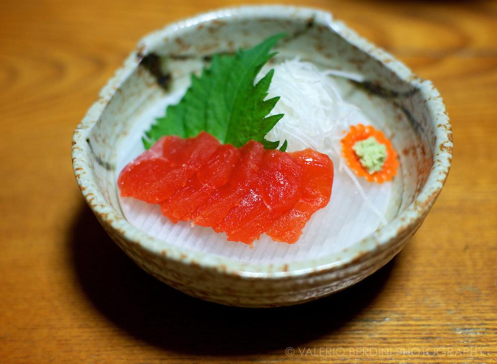 Wild trout sashimi. Tsumago, Japan 2013