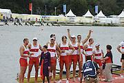 Eton Dorney, Windsor, Great Britain,..2012 London Olympic Regatta, Dorney Lake. Eton Rowing Centre, Berkshire[ Rowing]...Description;  Men's Eights Final..CAN.M8+.  Gabriel BERGEN (b) , Douglas CSIMA (2) , Rob GIBSON (3) , Conlin MCCABE (4) , Malcolm HOWARD (5) , Andrew BYRNES (6) , Jeremiah BROWN (7) , Will CROTHERS (s) , Brian PRICE (c)Dorney Lake. ..12:57:38  Wednesday  01/08/2012..[Mandatory Credit: Peter Spurrier/Intersport Images].