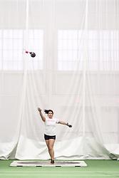 Bowdoin Indoor 4-way track meet: women's weight throw