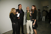 Deborah Orr, Will Self, Marc Quinn and Saffron Burrows, Work by Mexican artist, Gabriel Orozco. Gallery opening & private view at new White Cube space, 25-26 Mason's Yard, London and afterwards at Claridges. London. 27 September 2006. <br />