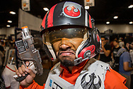Chris Quan, 22, dresses as Star Wars character, Poe, at 2018 Supercon event at the Broward Convention Center in Fort Lauderdale on Saturday, July 14, 2018.