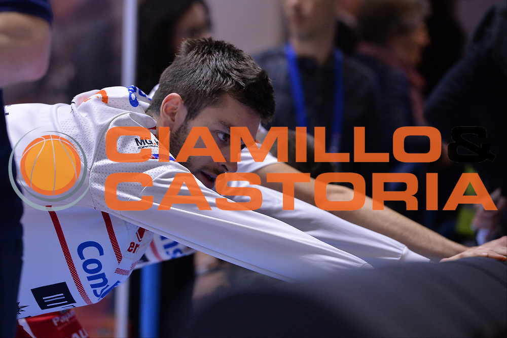 Ceron Marco<br /> Enel Brindisi - Consultinvest Pesaro<br /> BASKET Serie A 2016 <br /> Brindisi 09/04/2017<br /> FOTO CIAMILLO / M.Longo