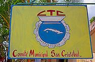 CTC in San Cristobal, Artemisa, Cuba.