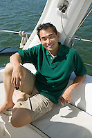 Smiling Man on Sailboat