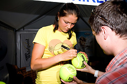 Dinara Safina of Russia had time for fans at 2nd day of Banka Koper Slovenia Open WTA Tour tennis tournament, on July 21 2009, in Portoroz / Portorose, Slovenia. (Photo by Vid Ponikvar / Sportida)