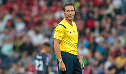 29.07.2015, Red Bull Arena, Salzburg, AUT, UEFA CL, FC Salzburg vs Malmoe FF, Qualifikation, 3. Runde, Hinspiel, im Bild Schiedsrichter Luca Banti (ITA) // Referee Luca Banti (ITA) during the UEFA Championsleague Qualifier 3rd round, 1st Leg Match between FC Salzburg and Malmoe FF at the Red Bull Arena in Salzburg, Austria on 2015/07/29. EXPA Pictures © 2015, PhotoCredit: EXPA/ JFK