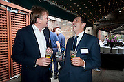 IVOR DICKINSON; DOUGLAS AND GORDON;TIM THURSTON Archant Summer party. Kensington Roof Gardens. London. 7 July 2010. -DO NOT ARCHIVE-© Copyright Photograph by Dafydd Jones. 248 Clapham Rd. London SW9 0PZ. Tel 0207 820 0771. www.dafjones.com.