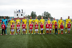NK Domzale players during 1st Leg football match between FC Valur Reykjavik and NK Domzale in 2nd Qualifying Round of UEFA Europa League 2017/18, on July 13, 2017 in Reykjevik, Iceland. Photo by Ziga Zupan / Sportida