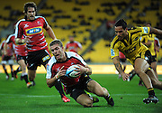 Lions fullback Jaco Taute scores. Super 15 rugby match - Hurricanes v Lions at Westpac Stadium, Wellington, New Zealand on Saturday, 4 June 2011. Photo: Dave Lintott / photosport.co.nz