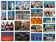 A 15 image collage of Israeli landmarks