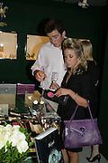 Tom Vaughan-Fowler and Alice Crossman. New Collectors Evening. Grosvenor House Antiques Fair. Park Lane. 19 June 2007.  -DO NOT ARCHIVE-© Copyright Photograph by Dafydd Jones. 248 Clapham Rd. London SW9 0PZ. Tel 0207 820 0771. www.dafjones.com.