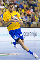 Branko Vujovic of RK Celje Pivovarna Lasko during handball match between RK Celje Pivovarna Lasko and PGE Vive Kielce in Group Phase A+B of VELUX EHF Champions League, on September 30, 2017 in Arena Zlatorog, Celje, Slovenia. Photo by Urban Urbanc / Sportida