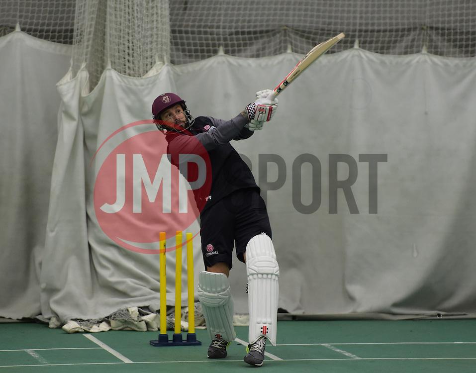 Somerset's Peter Trego in action. - Mandatory byline: Alex Davidson/JMP - 25/02/2016 - CRICKET - The Cooper Associates County Ground -Taunton,England - Somerset CCC  Media access - Pre-Season