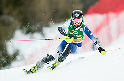 "Emiko Kiyosawa (JPN) in action during 1st Run of the FIS Alpine Ski World Cup 2017/18 7th Ladies' Slalom race named ""Golden Fox 2018"", on January 7, 2018 in Podkoren, Kranjska Gora, Slovenia. Photo by Ziga Zupan / Sportida"