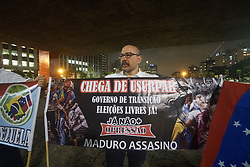 April 30, 2019 - Sao Paulo, Brazil - Venezuelans take part in a demonstration in support of Venezuelan opposition leader Juan Guaido, who many nations have recognized as the country's rightful interim ruler, at Paulista Avenue in São Paulo, Brazil April 30, 2019. (Credit Image: © Cris Faga/NurPhoto via ZUMA Press)