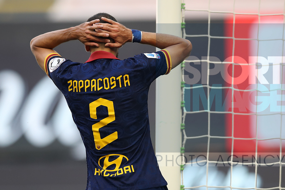 AS Roma's Italian defender Davide Zappacosta reacts during the Serie A match at Giuseppe Meazza, Milan. Picture date: 28th June 2020. Picture credit should read: Jonathan Moscrop/Sportimage