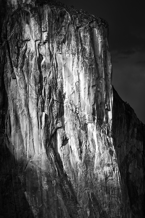 This picture was created at the Yosemite's infamous Tunnel View vista point right before a thunderstorm hit us.