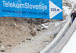 239 m - the hill record sign during Flying Hill Individual competition at 4th day of FIS Ski Jumping World Cup Finals Planica 2012, on March 18, 2012, Planica, Slovenia. (Photo by Vid Ponikvar / Sportida.com)