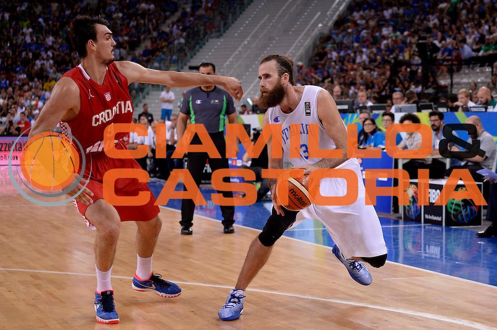 DESCRIZIONE: Torino FIBA Olympic Qualifying Tournament Italia - Croazia<br /> GIOCATORE: Luigi Datome<br /> CATEGORIA: Nazionale Italiana Italia Maschile Senior<br /> GARA: FIBA Olympic Qualifying Tournament Italia - Croazia<br /> DATA: 05/07/2016<br /> AUTORE: Agenzia Ciamillo-Castoria