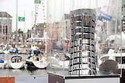 01/07/2012.  The Volvo Ocean Race trophy at Galway Docks  Picture :Andrew Downes