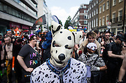 UNITED KINGDOM, London: 27 June 2015 Members and supporters of the Gay and Lesbian community attend the 2015 Pride Parade in London, England. Pride in London is one of the world's biggest LGBT+ celebrations as thousands of people take part in a parade. Andrew Cowie / Story Picture Agency