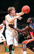Nov 27, 2011; Birmingham, AL, USA;  UAB Blazers forward Jorda nSwing passes the ball over UT Martin Skyhawks guard Dane Smith (31) at Bartow Arena.  Mandatory Credit: Marvin Gentry-US PRESSWIRE