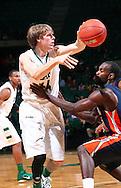 Nov 27, 2011; Birmingham, AL, USA;  UAB Blazers forward Jorda nSwing passes the ball over UT Martin Skyhawks guard Dane Smith (31) at Bartow Arena.  Mandatory Credit: Marvin Gentry-US PRESSWIRE