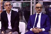 Marino Fernando Vitucci Francesco Frank<br /> Grissin Bon Reggio Emilia - Happycasa Brindisi<br /> Legabasket Serie A 2018/2019<br /> Reggio Emilia 31/03/2019<br /> Foto A.Giberti / Ciamillo-Castoria