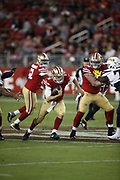 San Francisco 49ers quarterback Jack Heneghan (6) in action during the 2018 NFL preseason week 4 football game against the Los Angeles Chargers on Thursday, Aug. 30, 2018 in Santa Clara, Calif. The Chargers won the game 23-21. (©Paul Anthony Spinelli)